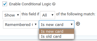 Using conditional logic with a Customer Tokens field